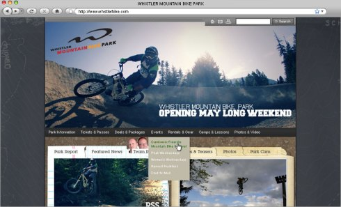 Photo Credit: Origin Design & Communications. Whistler Bike Park ad campaign.